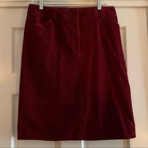 Red/wine skirt